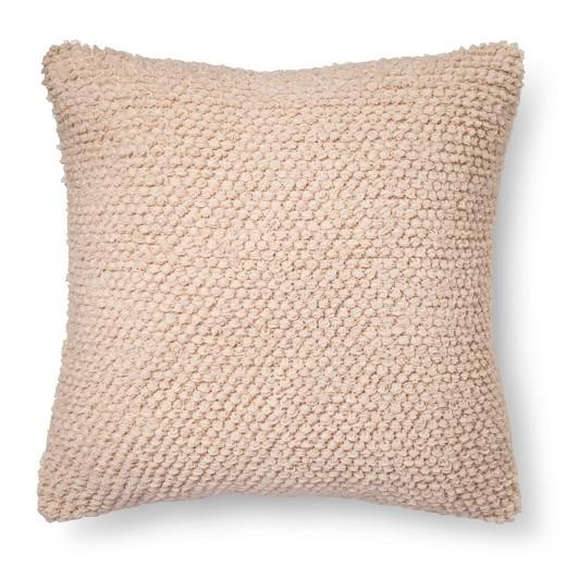 White Loop De Loop Knit Throw Pillow - Xhilaration : Target