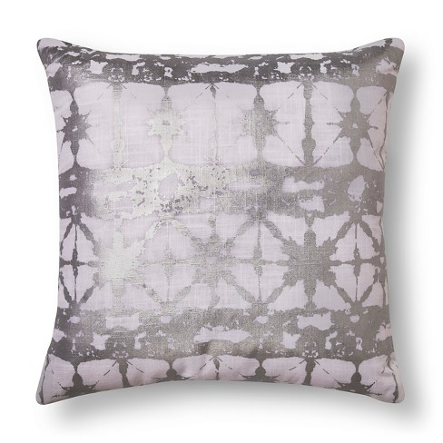 Silver Metallic Shibore Throw Pillow - Xhilaration™ - image 1 of 1