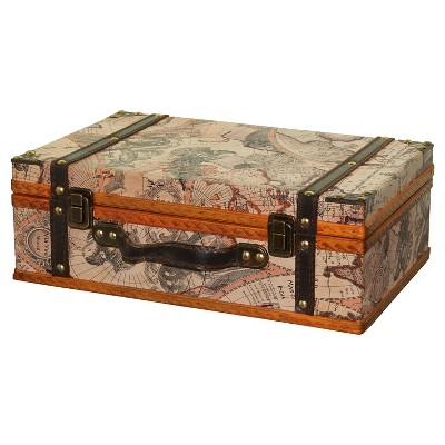 Storage Chests/Suitcase Antique Map   Quickway Imports