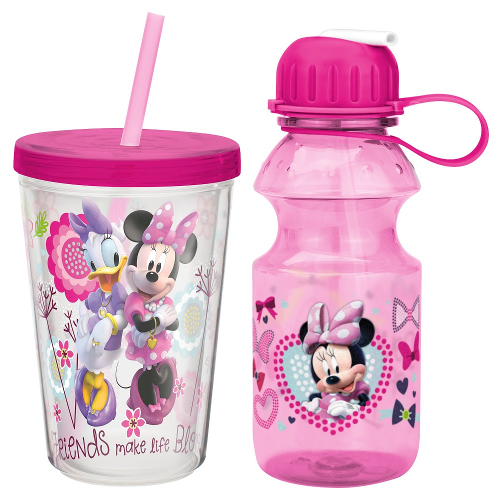 Minnie Bowtique 2-pc Drinkware Set Plastic, Pink