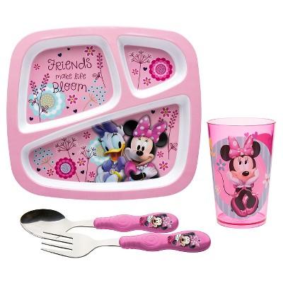Zak! Minnie Bowtique® Melamine 4pc Dinnerware Set