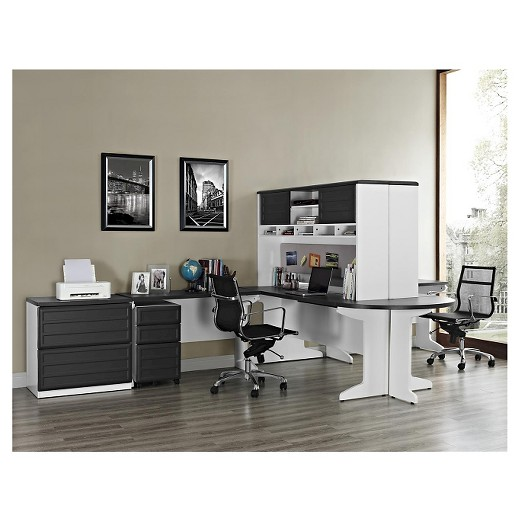 Pursuit Home Office Collection White Gray Ameriwood Home