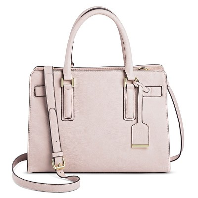 Faux Leather Tote Handbag With Belted Crossbody Strap Handbag - A New Day™ Smokey Taupe