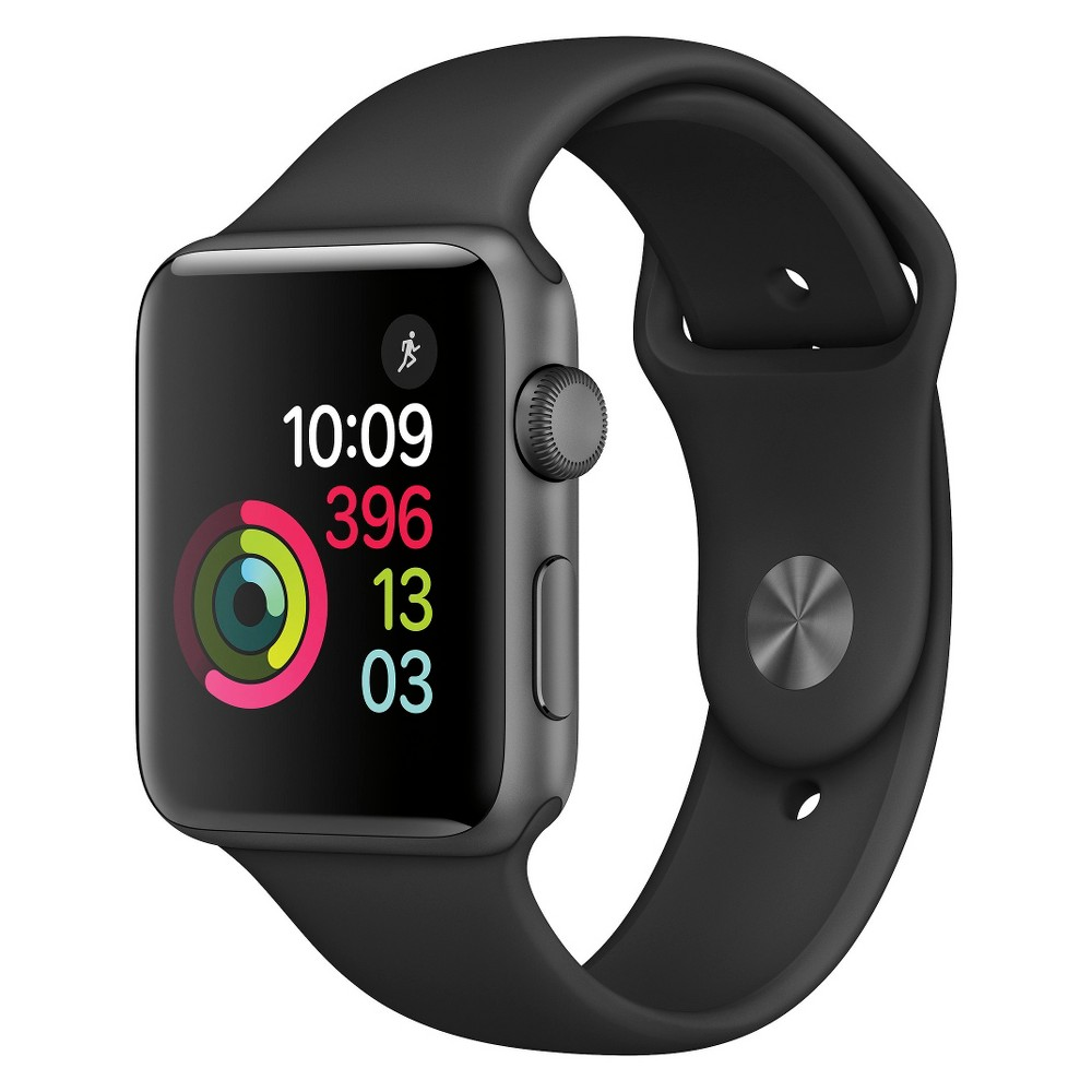 Apple Watch Series 2 42mm Space Gray Aluminum Case with B...