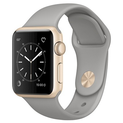 Apple® Watch Series 2 38mm Gold Aluminum Case with Concrete Sport Band