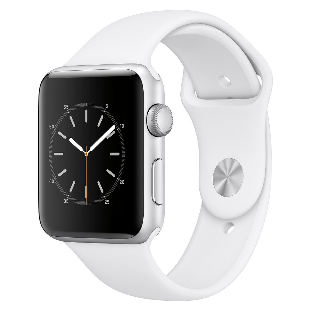 Apple Watch Series 2 42mm Silver Aluminum Case with White...