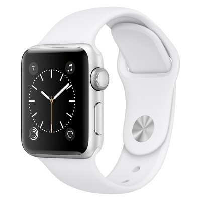 Apple® Watch Series 2 38mm Silver Aluminum Case with White Sport Band