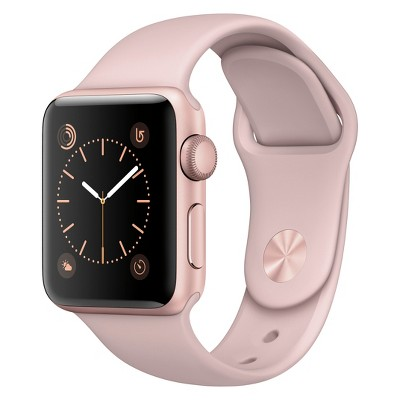 Apple® Watch Series 2 38mm Rose Gold Aluminum Case with Pink Sand Sport Band