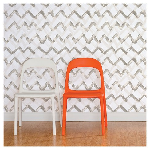 Devine Color Painted Chevron Peel & Stick Wallpaper - Mirage - image 1 of 8