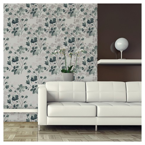 Devine Color Wildflower Peel & Stick Wallpaper - Sterling - image 1 of 7