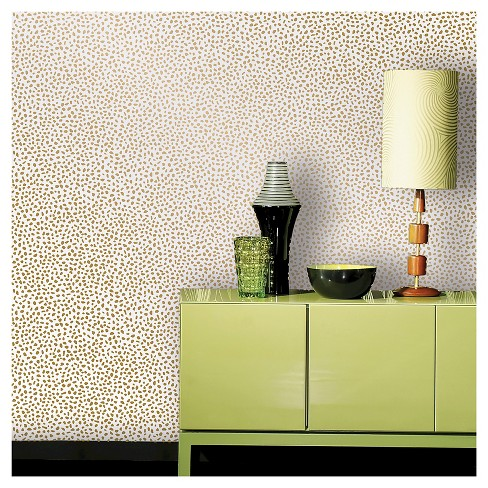 Devine color speckled dot peel stick wallpaper karat - Best peel and stick wallpaper ...