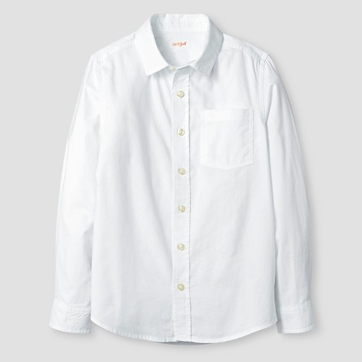 Boys 39 long sleeve button down oxford shirt cat jack for White button down collar oxford shirt