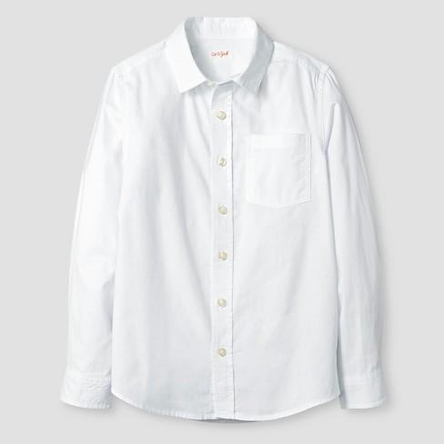 Boys 39 long sleeve button down oxford shirt cat jack for White button down oxford shirt