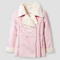 Toddler Girls' Shearling Pea Coat Cat & Jack - Pink. opens in a new tab.