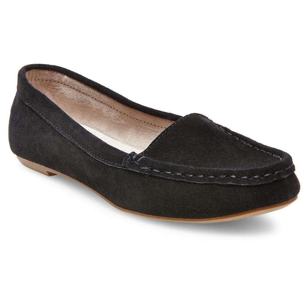 Womens Dorothy Suede Loafers - Merona Black 5.5