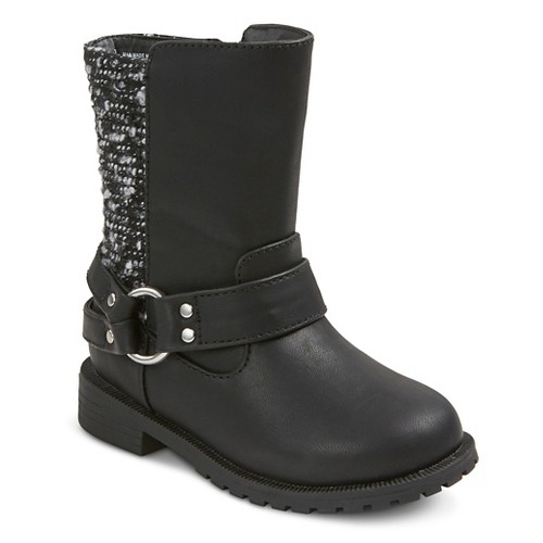 Toddler Girls' Viv Moto Boots Cat & Jack - Black 7, Toddler Girl's