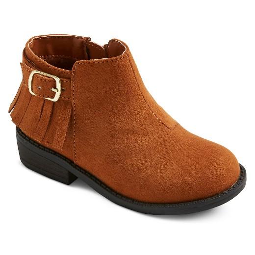 Toddler Girls' Sonja Fringe Ankle Boots Cat & Jack™ - Cognac 10 ...