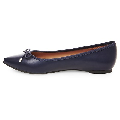 Women's Noele Pointed Toe Ballet Flats Navy (Blue) 7 - Merona