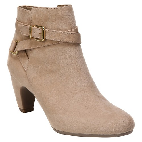 Women's Sam & Libby Mable Buckle Booties - Tan 6
