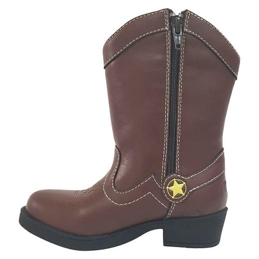 disney 174 toddler boys western boots brown target