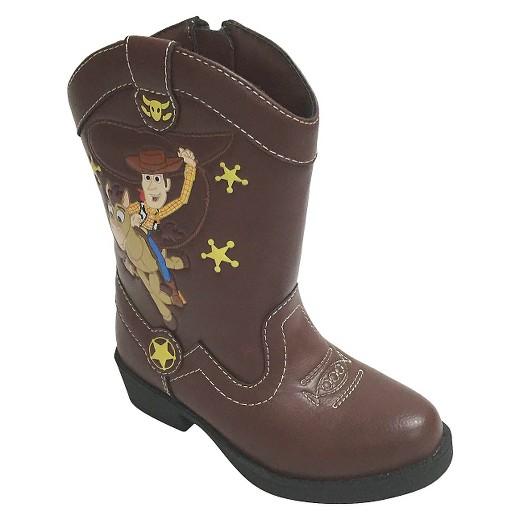 disney 174 toddler boys western boots brown 6 target