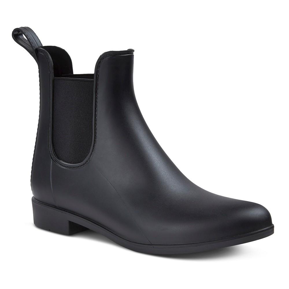 Womens Alex Chelsea Rain Boots - Merona Black 10