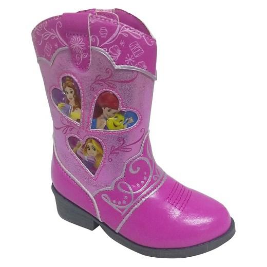 Toddler Girls' Princess Cowboy Western Boots - Pink : Target