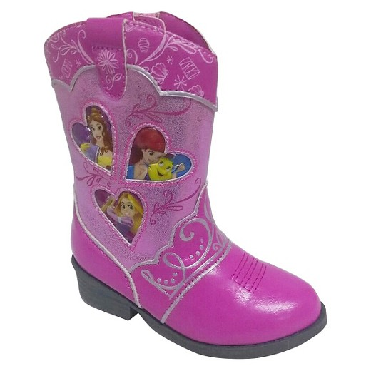 Toddler Girls' Princess Cowboy Western Boots - Pink : Target