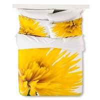 Yellow Spider Mums Duvet Cover Set