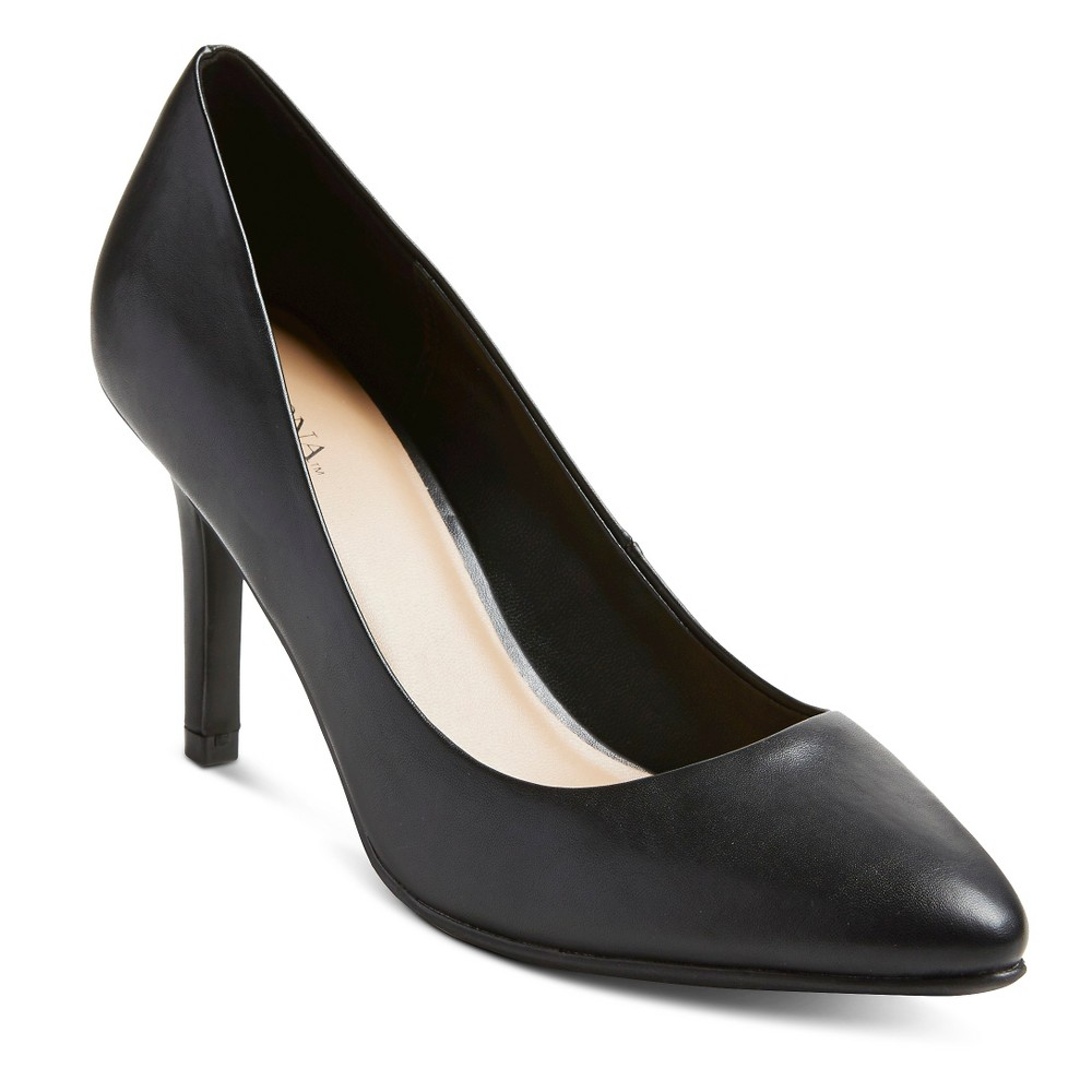 Womens Alexis Pointed Toe Pumps - Merona Black 8.5