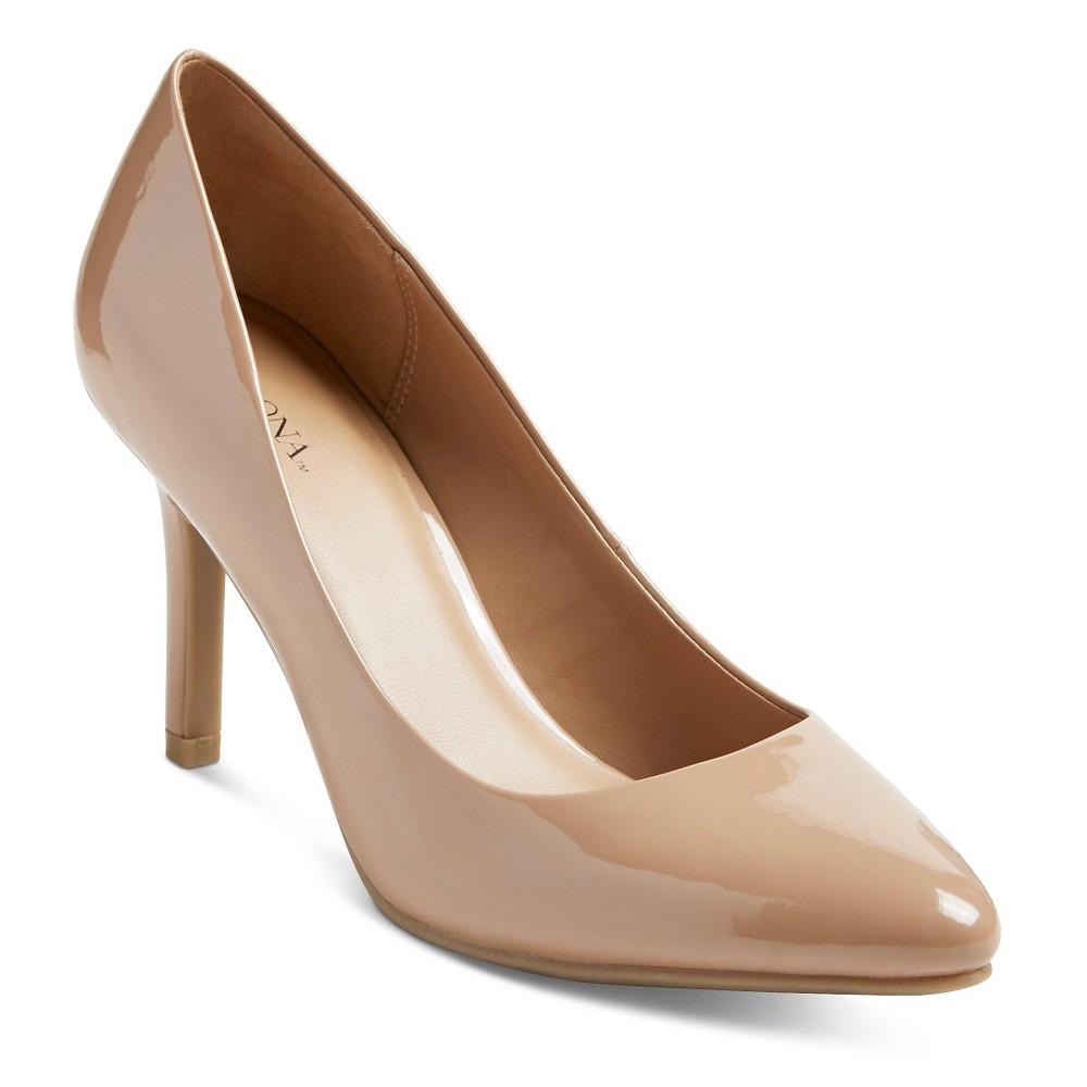 Womens Alexis Pointed Toe Pumps - Merona Pale Tan 8