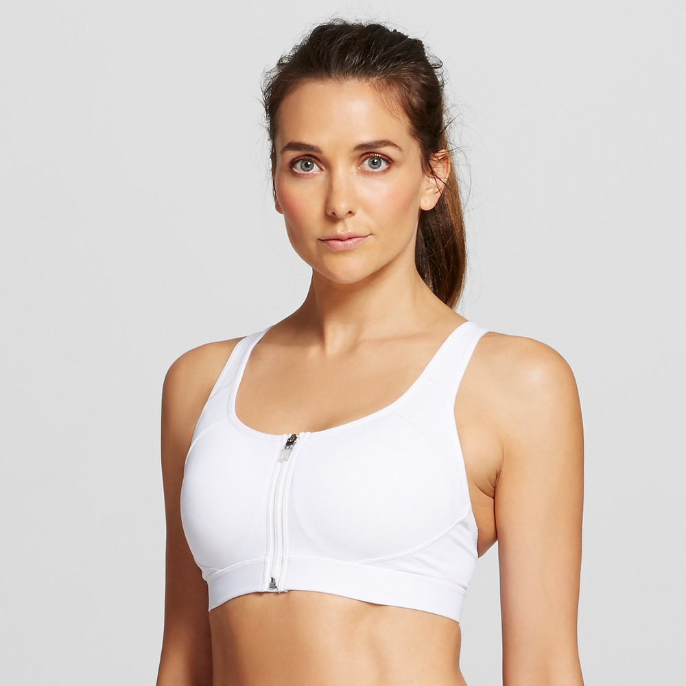 Womens Power Shape Max High Support Front Sports Bra - C9 Champion White L