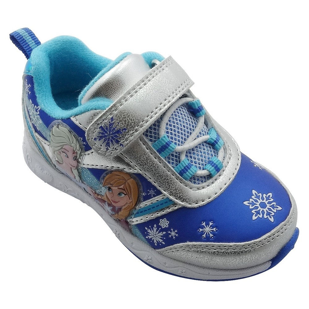 Toddler Girls Frozen Athletic Sneakers - Silver 9