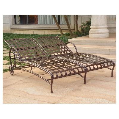 International Caravan Patio Double Chaise Lounge : Target