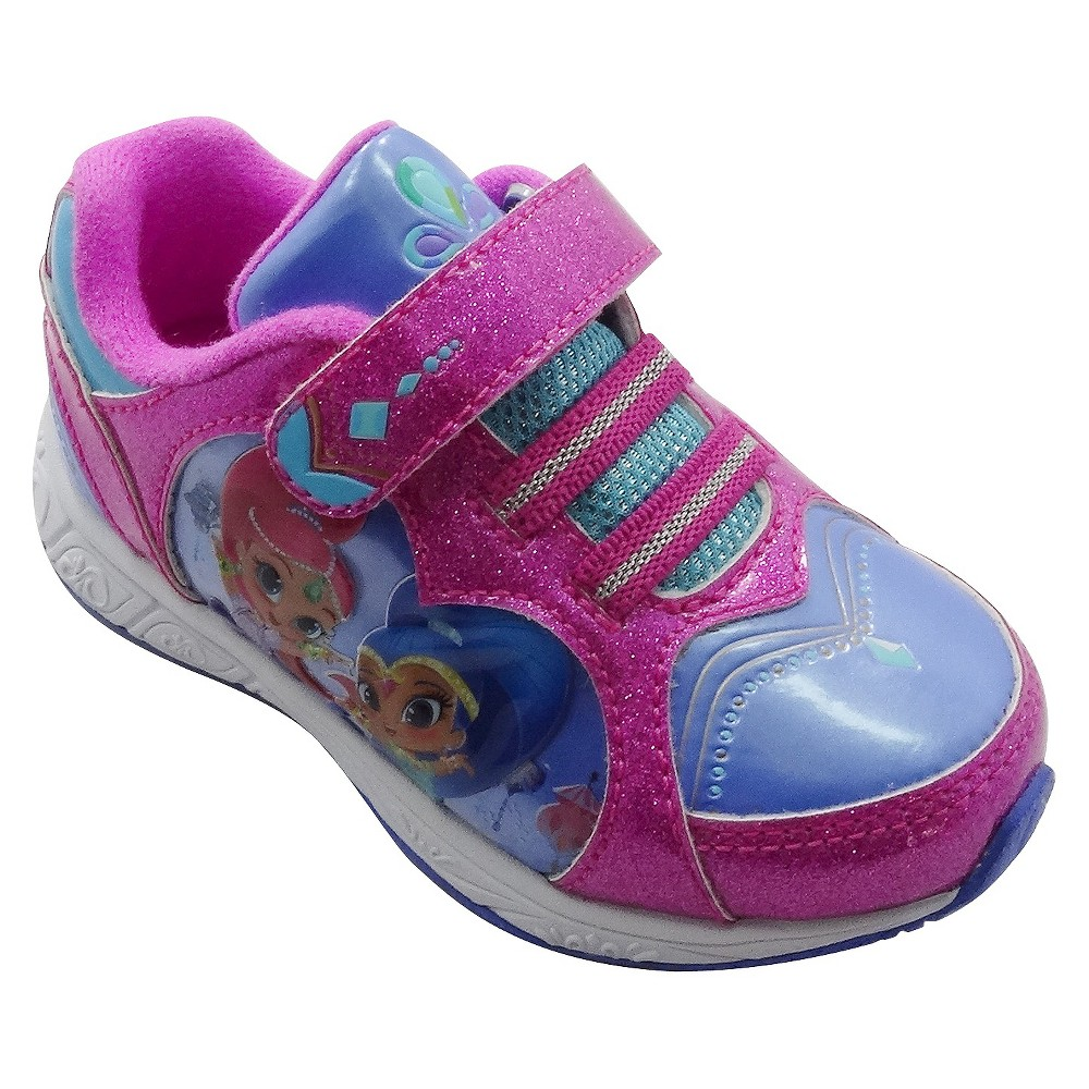 Toddler Girls Shimmer and Shine Athletic Sneakers - Pink 9