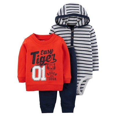 Just One You™ Made by Carter's® Baby Boys' 3pc Easy Tiger Set - Orange/Gray 6M
