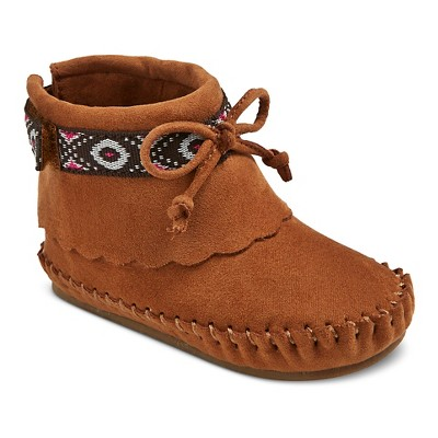 Infant Girls' Genuine Kids from OshKosh Shannon Moccasin Boots - Cognac 3