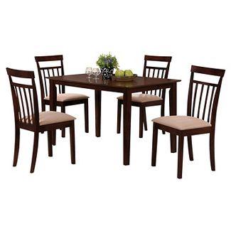 5 Piece Samuel Dining Set Wood Espresso   Acme. Dining Room Sets   Target