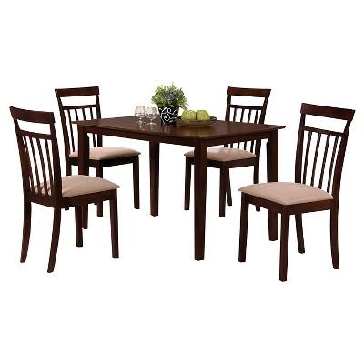 Great 5 Piece Samuel Dining Set Wood/Espresso   Acme
