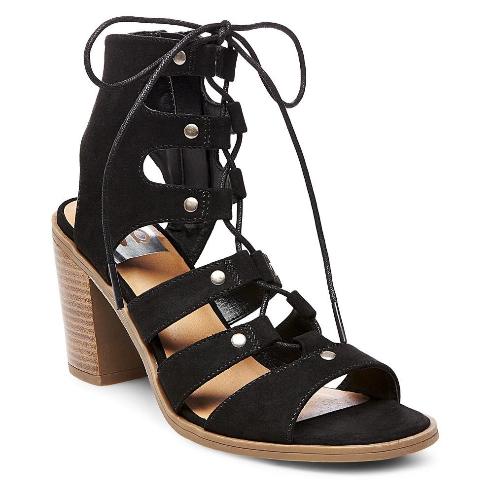 Womens dv Zoey Gladiator Sandals Stacked Heels - Black 11