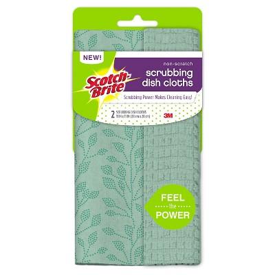 Scotch-Brite® Non-Scratch Scrubbing Dish Cloths Mint - 2 ct