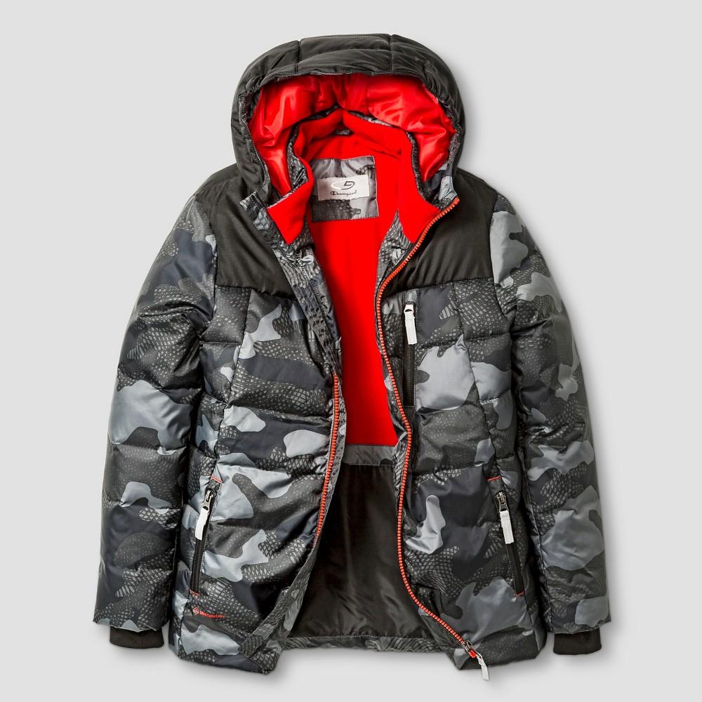 Boys' Puffer Jacket C9 Champion - Gray L, Boy's, Railroad Gray
