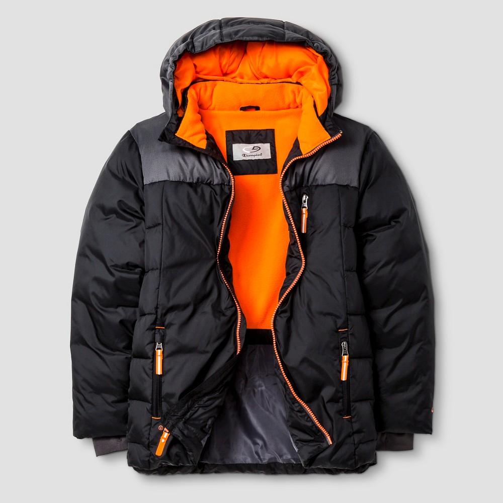 Boys' Puffer Jacket C9 Champion - Black M, Boy's, Ebony