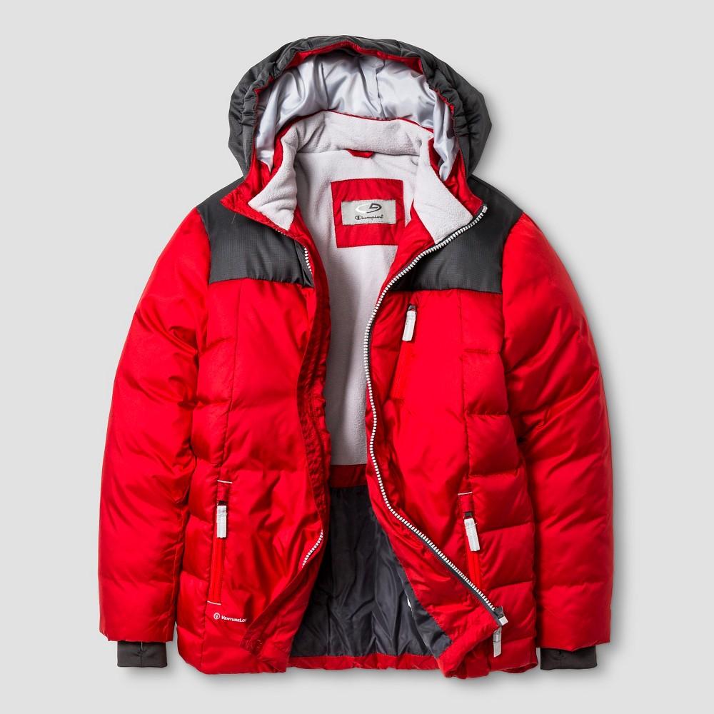 Boys' Puffer Jacket C9 Champion - Red XS, Boy's, Ripe Red