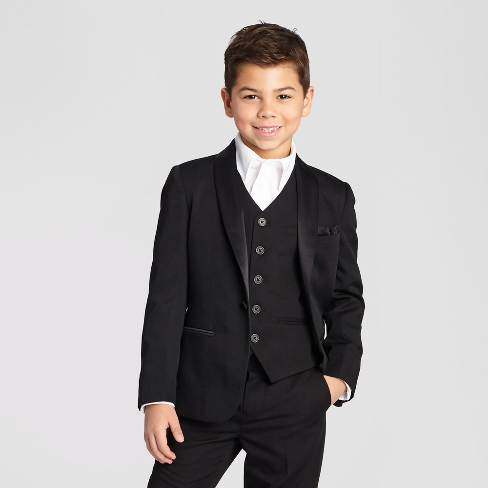 Boys Tuxedo Jacket - Black 4