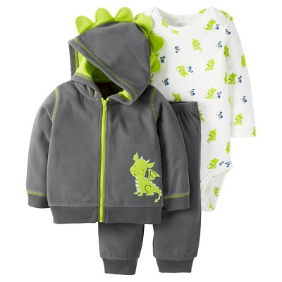 Just One You™ Made by Carter's® Baby Boys' 3pc Dragon Set - Navy/Lime - 9M