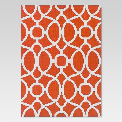 Wonderful Orange Trellis Outdoor Rug   Threshold™ : Target