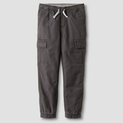 Boys' Cargo Jogger Pant Cat & Jack Charcoal M, Boy's, Gray
