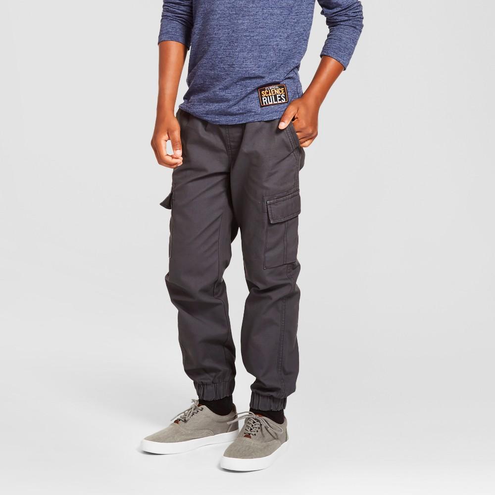 Boys Cargo Jogger Pants - Cat & Jack Charcoal L, Gray