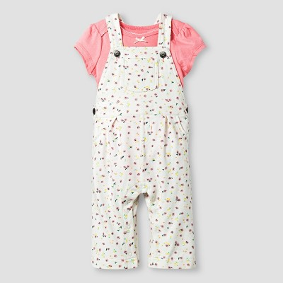 Baby Girls' Bodysuit and Print Overall Cat & Jack™ - Pink 0-3M